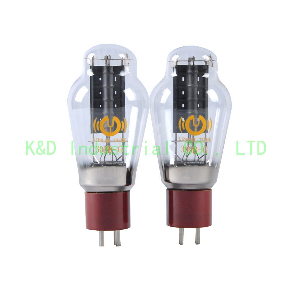1pc Vacuum Red HIFI LinLai 300B GR Audio Tube Ceramic Base for Guitar Amplifier in Plug With Socket from Consumer Electronics