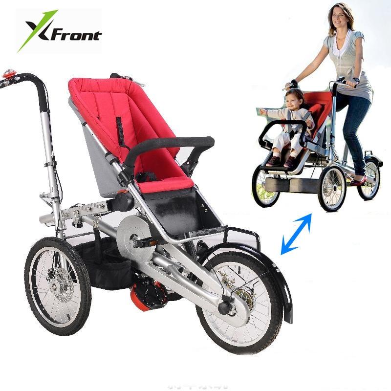 Brand New Mother Child Bicycle Stroller Children Folding Three Wheels Trolley Sports Deform Transportation Bike