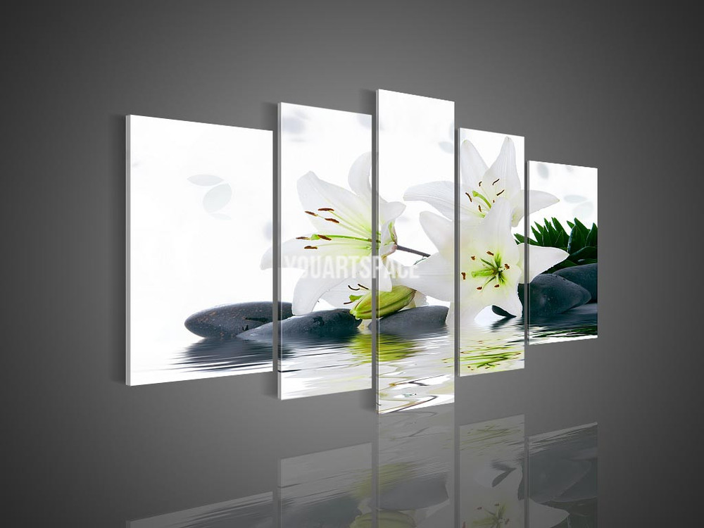 modern wall art 5 panel wall no framed modern abstract acrylic flower 11360