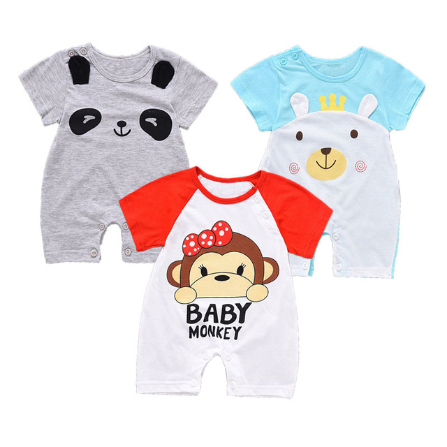 73aa889420a71 US $7.12 |Baby Rompers Summer Baby Boy Clothing Cotton Baby Girl Clothes  Newborn Clothes Roupas Bebe Infant Baby Jumpsuits Kids Costume-in Rompers  ...