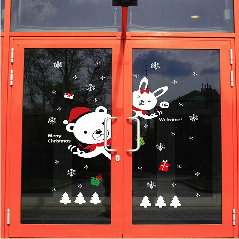 DIY Christmas Bear Bunny Wall Sticker Shop