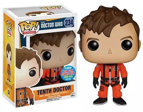 Exclusive Hot Topic from USA Official Funko pop Doctor Who Tenth Doctor Vinyl Figure Collectible Model Toy with Original box  funko pop official marvel doctor who dalek vinyl action figure collectible model toy with original box