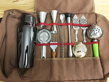 Ücretsiz kargo Bar alet çantası Mixology için çantası profesyonel barmen çantası boş çanta