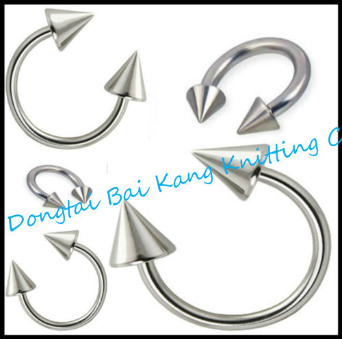 Cone Horseshoe Lip Stud Labret Ring Eyebrow Barbell Jewelry 316L surgical steel curved 16G Earring Nose