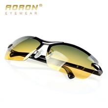 AORON Men's Polarized Sunglasses Day and Night Glasses Vison Multifunction Reduce Glare Goggles LOGO Original Box Eyewear de sol