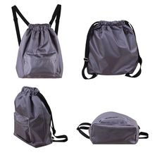 Swimming WaterProof Wet and Dry Separation Cord Backpack women's casual Drawstring Beach bag