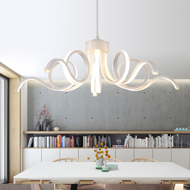 2017 New Design Modern Pendant Lights For Living Room Dining Kitchen Acrylic Body Hanging Lamp LED Lighting 75w In From