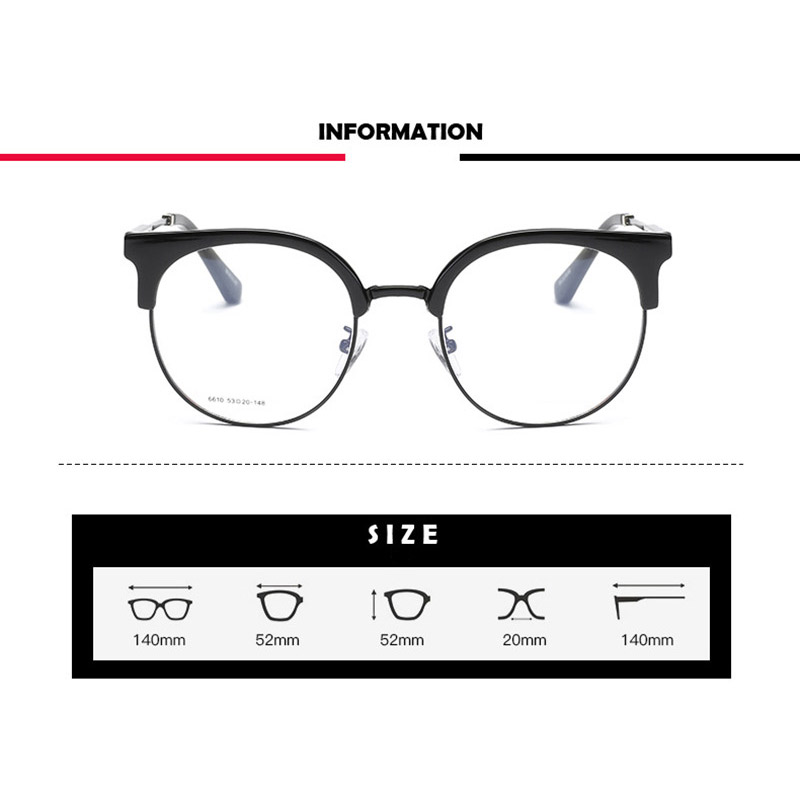 Image 3 - Handoer 6610 Optical Glasses Frame for Men and Women Alloy Eyewear Full Rim Alloy Spectacles Glasses Optical Prescription Frame-in Men's Eyewear Frames from Apparel Accessories