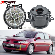 2x Car Exterior Accessories H11 LED Fog Lamps Front Bumper Auxiliary Passing Lights For Renault Megane 2 Saloon LM 2003~2015