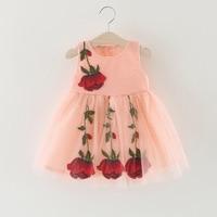 2017 Spring New Children S Clothing Girl Flowers Bloom Summer Flowers On The Dress