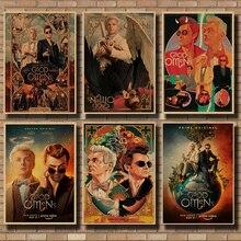 Good Omens movie poster, wall sticker, kraft paper poster, retro poster, sticker, movie wallpaper, vintage wall sticker 42*30cm pratchett t good omens