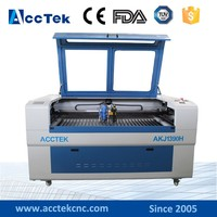 CO2 Laser Cutting Machine for Metal and Non Metal Material with double heads 150W and 60W laser tube