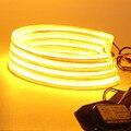 4 unids 131mm COB LED Ángel Eyes el Anillo de Halo Para BMW E36/E38/E39/E46 Proyector ámbar Amarillo Naranja