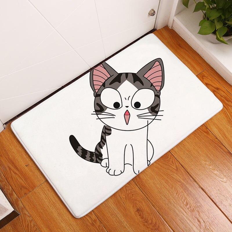Мягкий коврик для ванной, милый домашний коврик с рисунком кота, коврики для ванной комнаты, коврики для кухни, гостиной, впитывающие Противоскользящие коврики - Цвет: 11