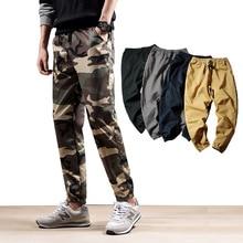 Лидер продаж, новая осенняя мужская Военная униформа, камуфляж, брюки для тренировок, повседневные штаны для влюбленных, брюки из Харлана