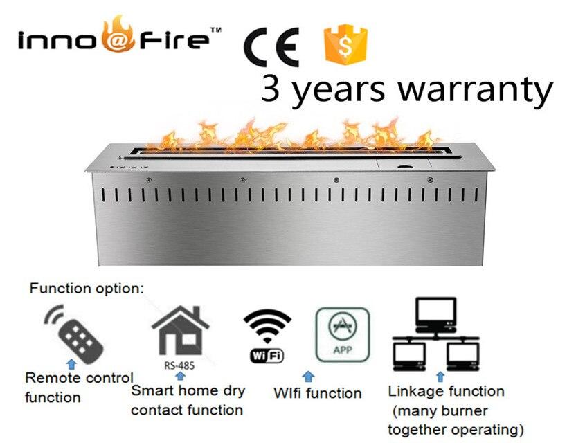 24 Inch Intelligent Remotee Control Ethanol Modern Black Or Silver  Garden Fireplace
