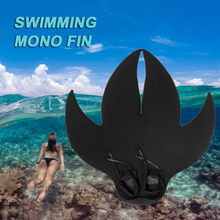 Adults/Kids Diving Fins Monofin Diving Flippers Training Swimming Recreational Mono Fin Neoprene Flippers For Snorkeling Surfing children outdoor swimming flippers diving monofin for kids training learning accessories 8