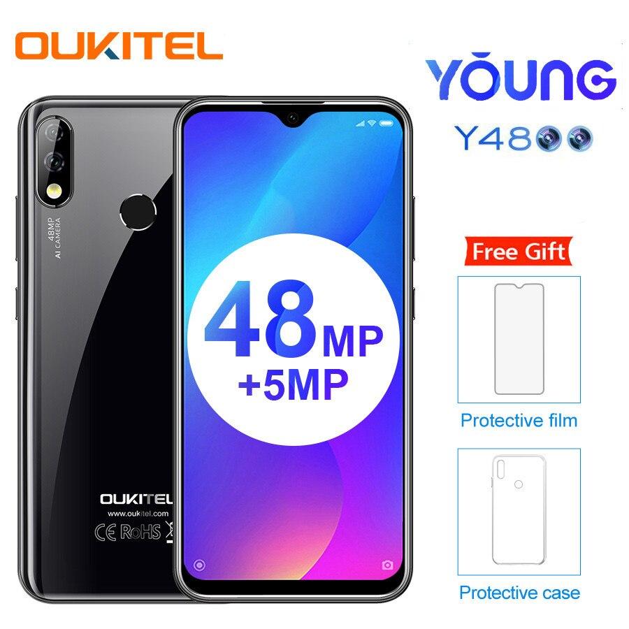 Фото. OUKITEL Y4800 6,3 дюйм FHD + водосберегающий Android 9,0 пирог 6 ГБ 128 Гб Смартфон 4G 4000mAh