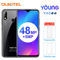OUKITEL Y4800 6.3 FHD+ Android 9.0 Pie 6GB 128GB Smartphone 4000mAh 9V/2A Quick Charge 48.0MP 4G Mobile Phone PK redmi note 7