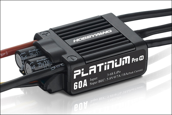 ESC HobbyWing Platinum PRO V4 60A 1pc Original (3 S-6 S) para 450-480 Classe Heli (Hélice: 325-360mm)