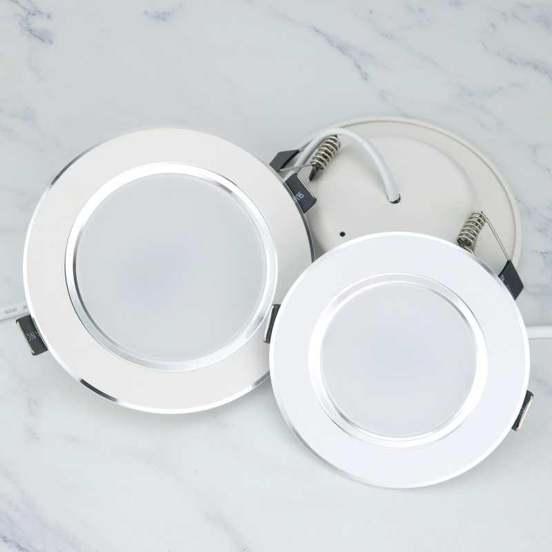 LED Downlight 3 W 5 W 7 W 9 W 12 W עגול שקוע מנורת 220 V 230 V 240 V Led הנורה חדר שינה מטבח מקורה LED ספוט תאורה