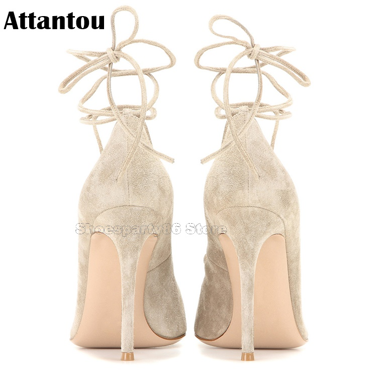 Parti Hauts À Color Stiletto Ol Lady as Mode Color Bout As Bureau Chaussures Pointu Showed Lacent Mince Talons Gladiateur tHq7Xwq