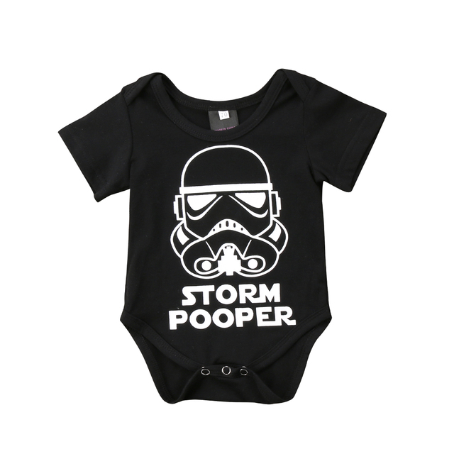 Infant Newborn Baby Boy Girl Cartoon Funny Short Sleeve  Romper Clothes Outfit  Baby Clothing 1