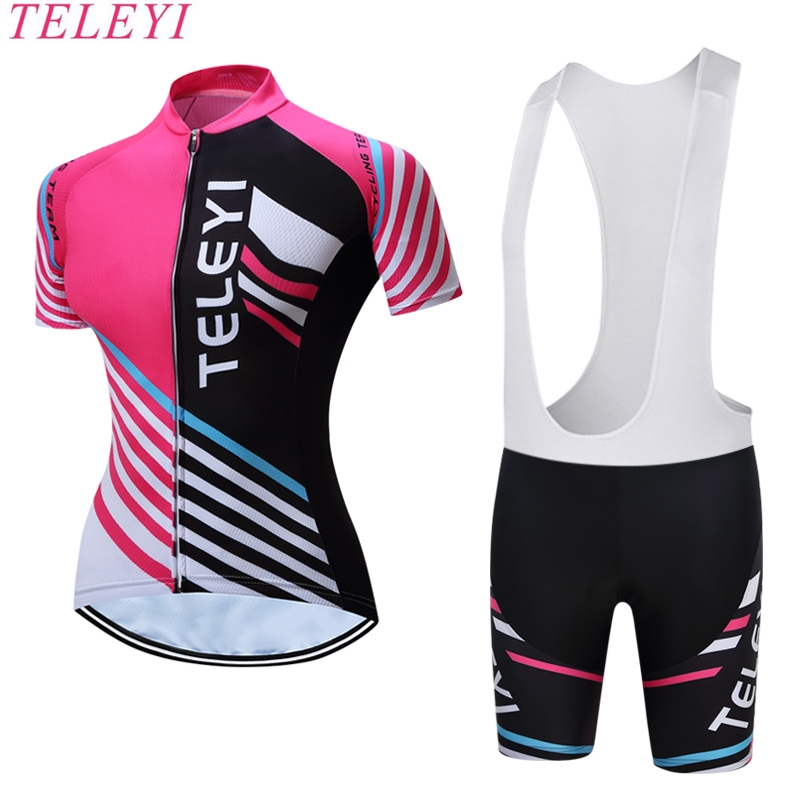 TELEYI BIKE 2017 New Summer Women MTB Bike Cycling Clothing Breathable Bicycle Clothes Ropa Ciclismo Girls UV Cycling Jersey
