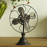 LOFT iron fan model retro clothing store props European American retro antique decoration decoration industry wind