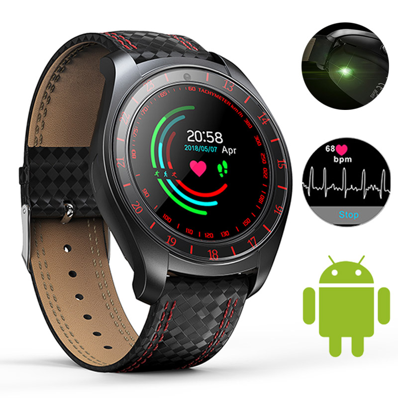 Bluetooth Smart Watch Men Heart Rate Monitor Pedometer SIM Card Camera Smart Sport Watch Connected Smartwatch For Android Phone 1 6 screen stainless steel bluetooth 3 0 sim camera hd dv recording pedometer 4g memory smart watch phone security msn p20