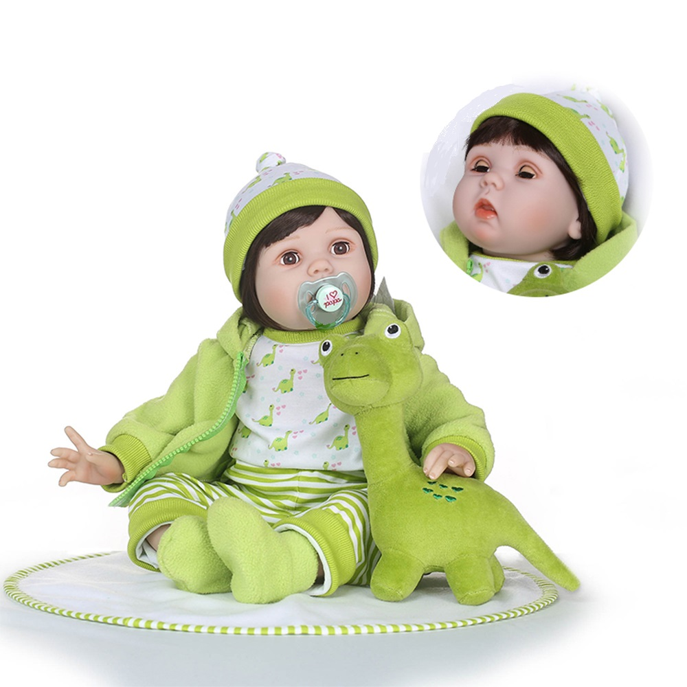 NPK 2018 New Arrival 22'' Baby Girl Reborn Dolls Kids Toy 55cm soft cloth body Silicone Vinyl Real Life Bebe Reborn Alive Doll npk new arrival full body silicoen bebe reborn girl dolls soft silicone vinyl real gentle touch bebe new born real reborn baby