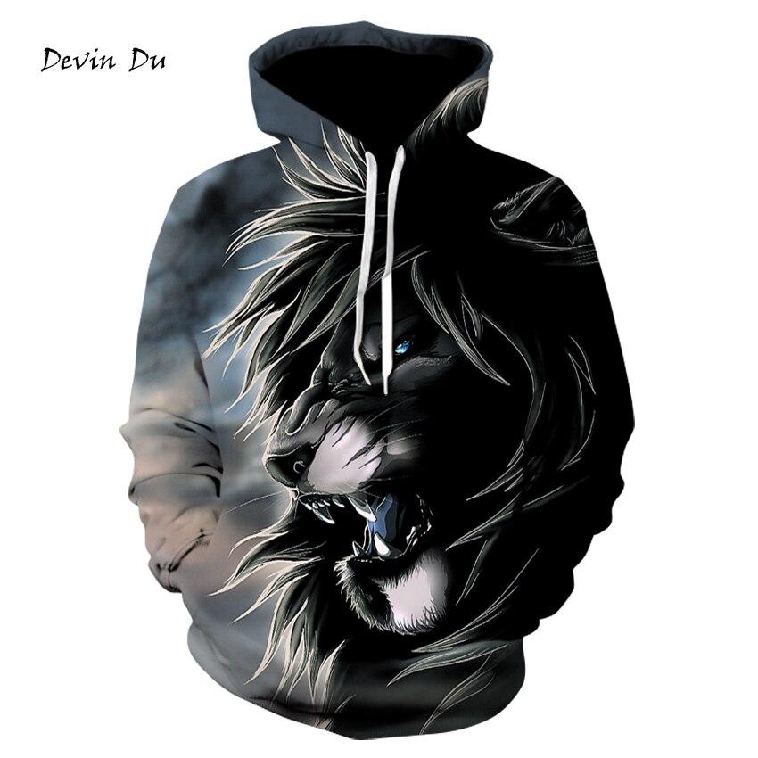 Lion Constellation Printed Hoodies 3D Men Women Hooded Pullover 6XL Sweatshirts Casual Pocket Outwear Novelty Coat