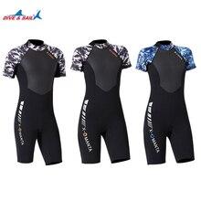 ae883e388dda7 women/men 1.5MM wetsuit One Piece spring Diving Suit short sleeve Surfing  Rash Guard