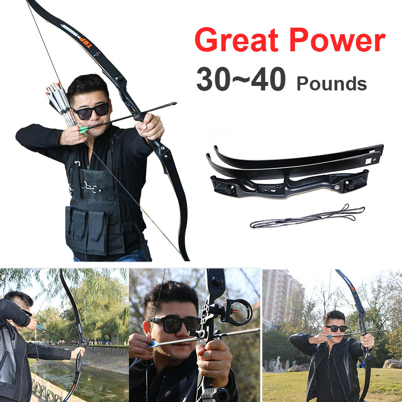 цена на Hunting Bow Professional Distance 30 Inches Outdoor Sports Straight Bow Bowstrin Competitive Competition Hunting Bow Powerful