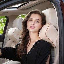 1 шт. Автомобильная подушка для шеи Защита авто подголовник Поддержка Подушка для автомобиля путешествия спальный автомобиль аксессуары пены памяти удобные