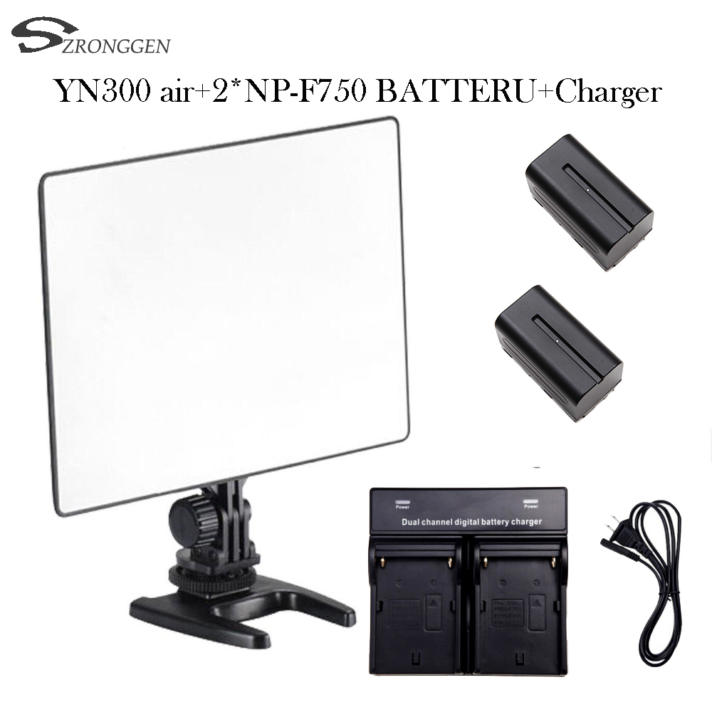 YONGNUO YN300air YN300 air YN 300  yn 300 AIR Pro LED Camera Video Light For Canon Nikon +2* NP F750 4400mah BATTERY + Charger-in Photographic Lighting from Consumer Electronics    1