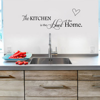 English letters Kitchen love vinyl Wall Sticker on the wall Decals Art Words Kitchen background decoration Stickers Home Decor