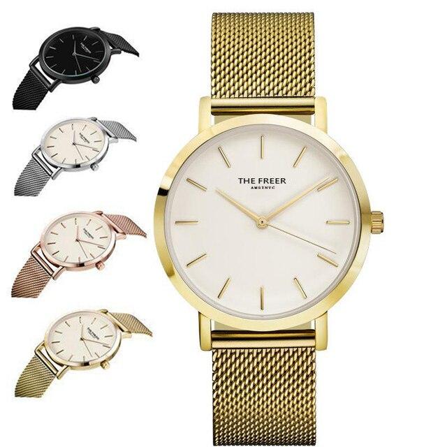 252b1c2fad3d28 Dw orologio di Marca IL FREER Pietra Preziosa Di Lusso Orologi Donna  Orologio Da Polso In