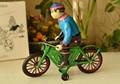 Hojalata reloj Retro juguetes estaño reloj clásico bici del motorista Rare collectibles