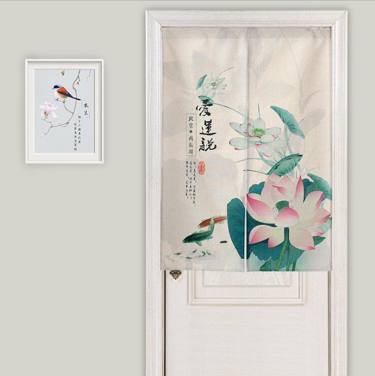 Linen cotton japanese style door curtain kitchen living - Doors to separate kitchen from living room ...