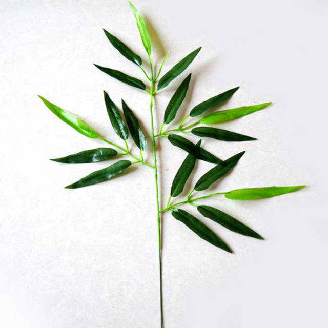 20pcs artificial bamboo leaf plants plastic branches decoration small bamboo plastic 20 leaves accessories zl4