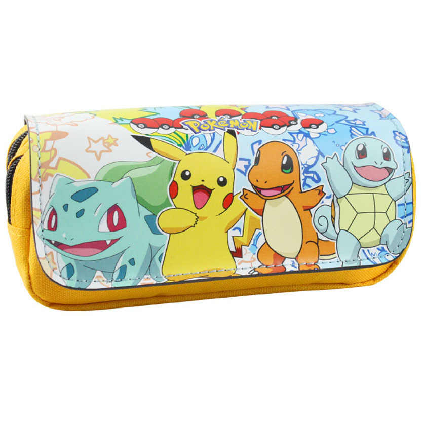 Cartoon pencil case Pokemon Pikachu pencilcase Boutique estuches school supplies estojo Stationery gift Coin Pouch Zipper Bag