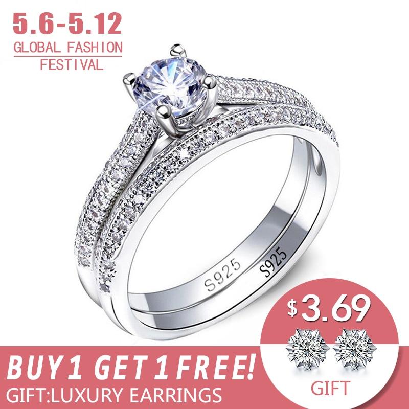 Mossovy Persönlichkeit Zirkon Drei Zeile Bohrer Silber Farbe Ring Für Weibliche Mode Beliebte Zirkonia Hochzeit Ringe Für Frauen Hochzeits- & Verlobungs-schmuck