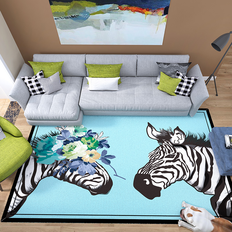 3D animal tapis et tapis salon moderne minimaliste maison table basse tapis tapis tapis mignon chambre chevet couverture