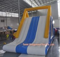 Custom PVC Plastic Golden Triangle Inflatable Water Slide for Water Sports