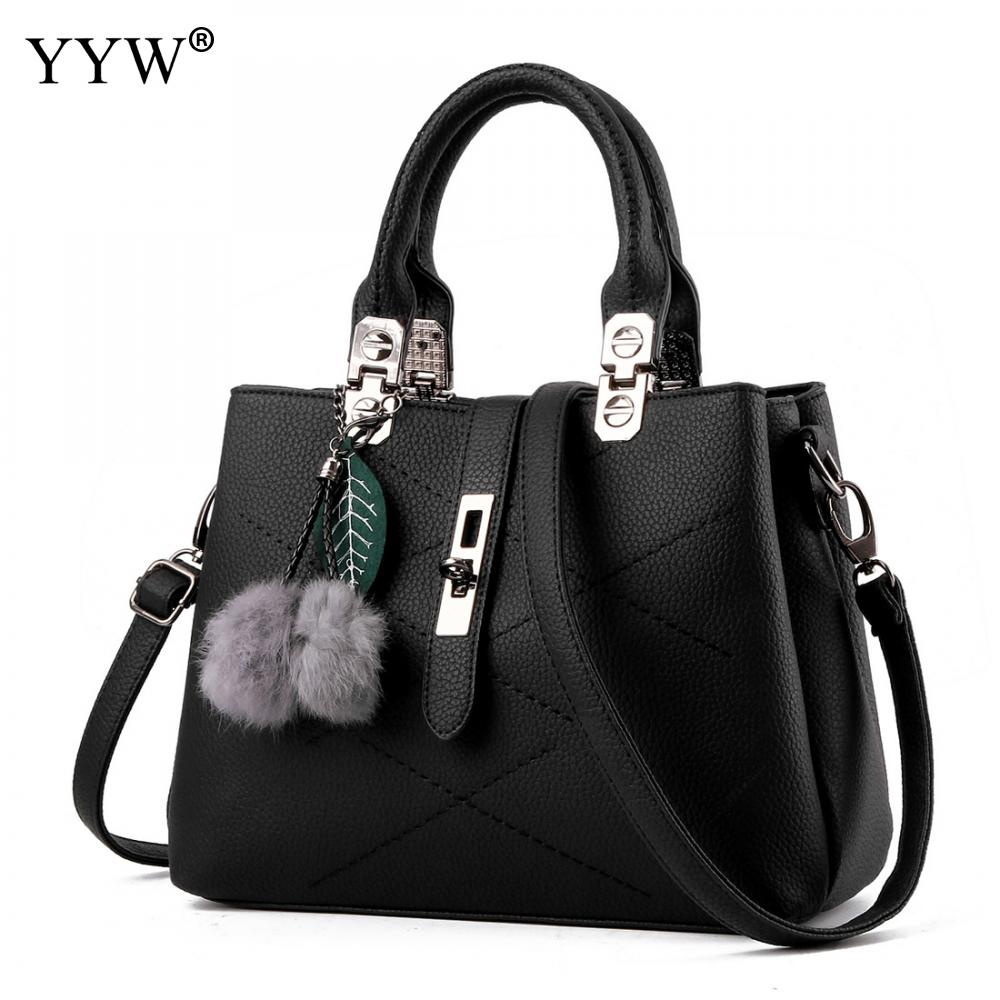 Solid Color Female Casual Tote Bag Ladies' Top-Handle Bag Luxury PU Leather Handbags Women Black Bags 10 Colors for Wholeasale seven skin brand women shoulder bag female large tote bag ladies pu leather top handle bags luxury handbags women bags designer