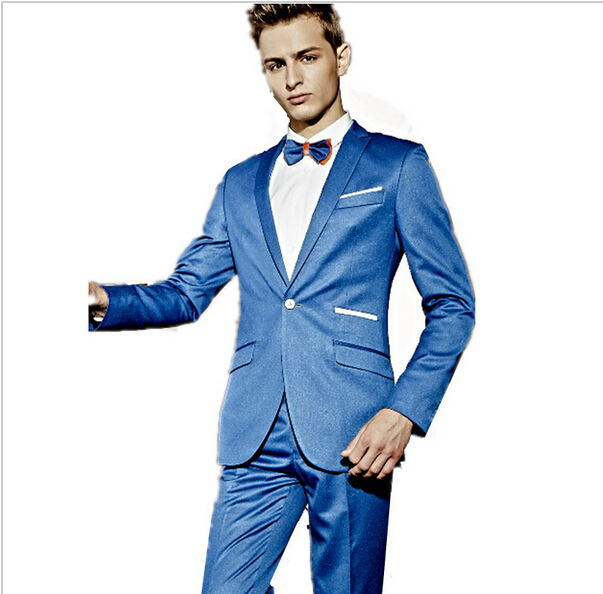 New / High Quality custom men\'s party formal suits tuxedo blue /man ...