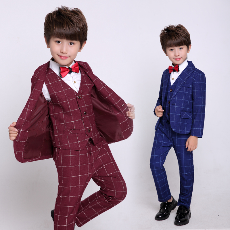 Boys Black 3 pcs/set Wedding Suits for Boy lattice Formal Dress Suit Boys wedding suit Kid Tuxedos Page boy Outfits 4pieces/set supra sam 203 black page 3 page 3 page 3
