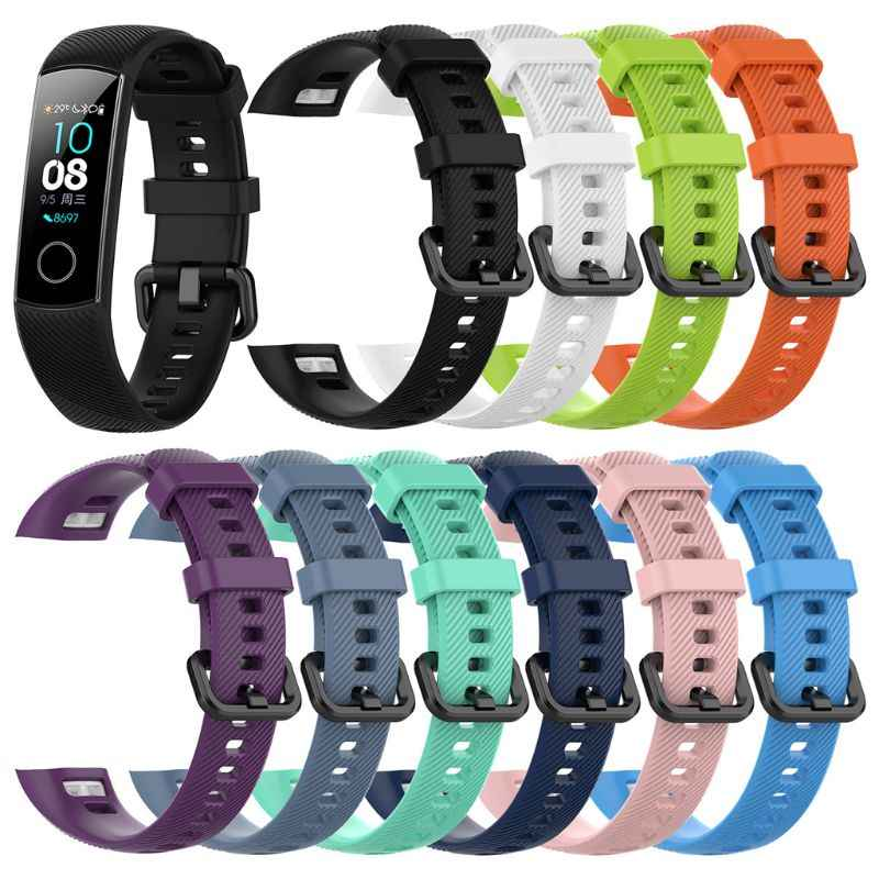 Silicone Wrist Strap Watch Band For Huawei Honor Band 4 Standard Version Smart Watch