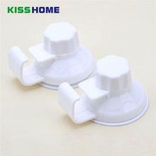 2 Pcs Hook Rack with Single Suction Cup Kitchen Nut Installation For Washbasin Hanging Sucker Holders Robe